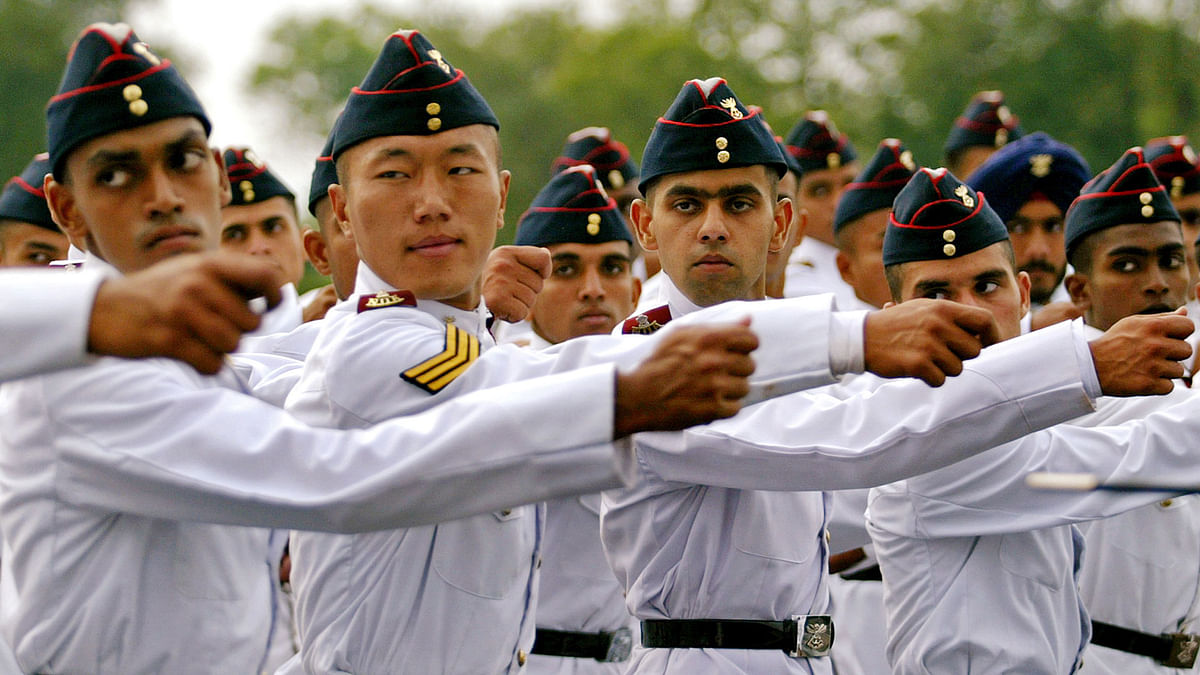 NDA cadets at the passing out parade. Graduates from NDA get a JNU degree. (Photo: Reuters)