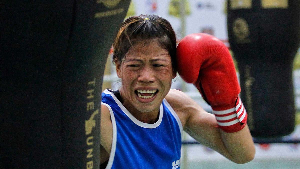 File photo of MC Mary Kom in training. (Photo: PTI)