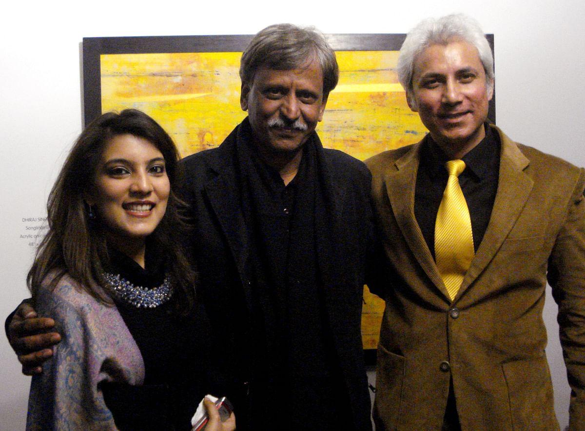 Sahar Zaman with Sudhir Tailang.