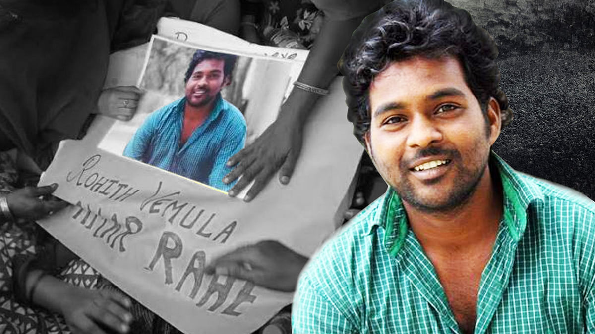 Dalit Scholar Rohit Vemula's suicide sparked a furor across the nation. (Photo altered by <b>The Quint</b>)