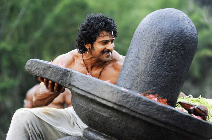 Prabhas in a still from <i>Baahubali</i>