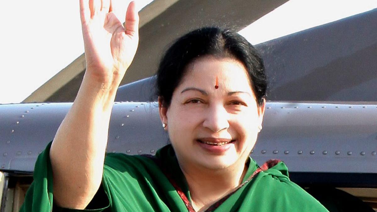 Late Tamil Nadu CM Jayalalithaa.