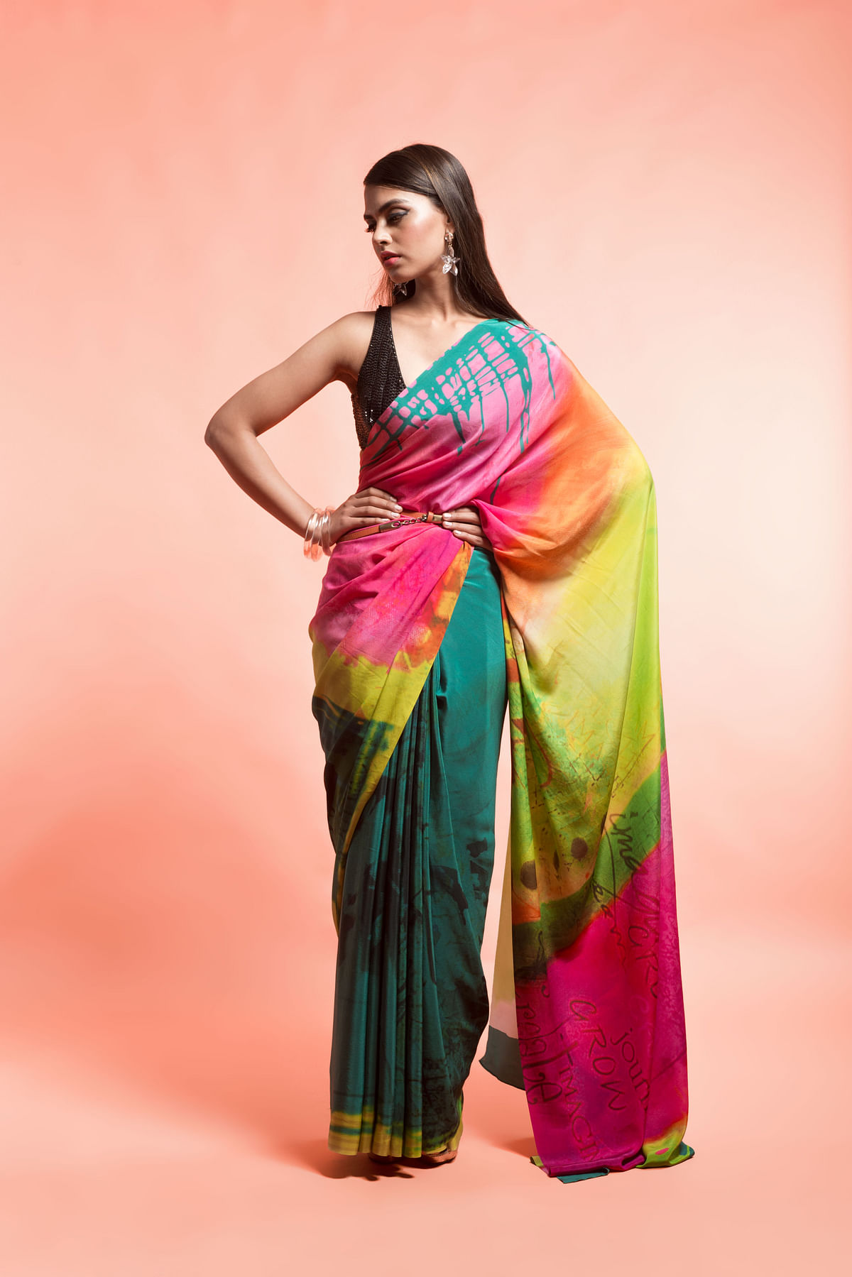 A heady cocktail-like sari? (Photo: Yogen Shah)