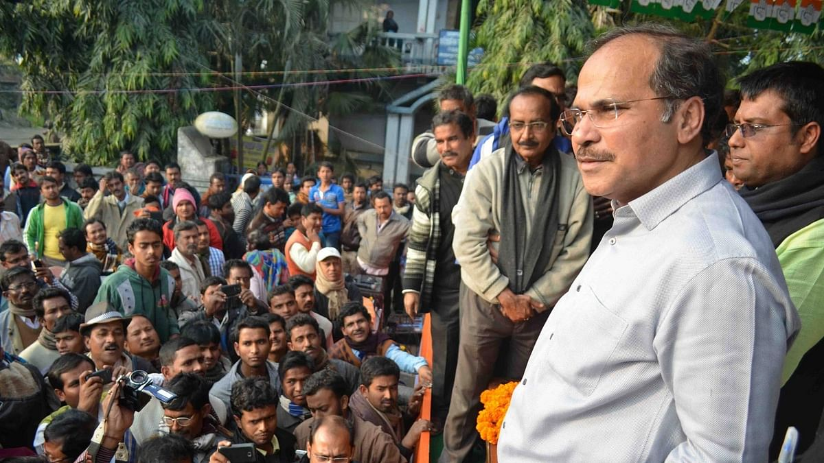 Adhir Ranjan Eviction: Cong Hits Back, Protests Outside BJP Office