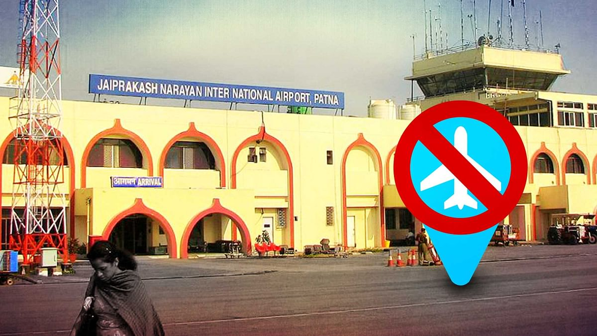 The non-compliance of certain norms may lead to the closure of the Patna International Airport. (Photo: <b>The Quint</b>)