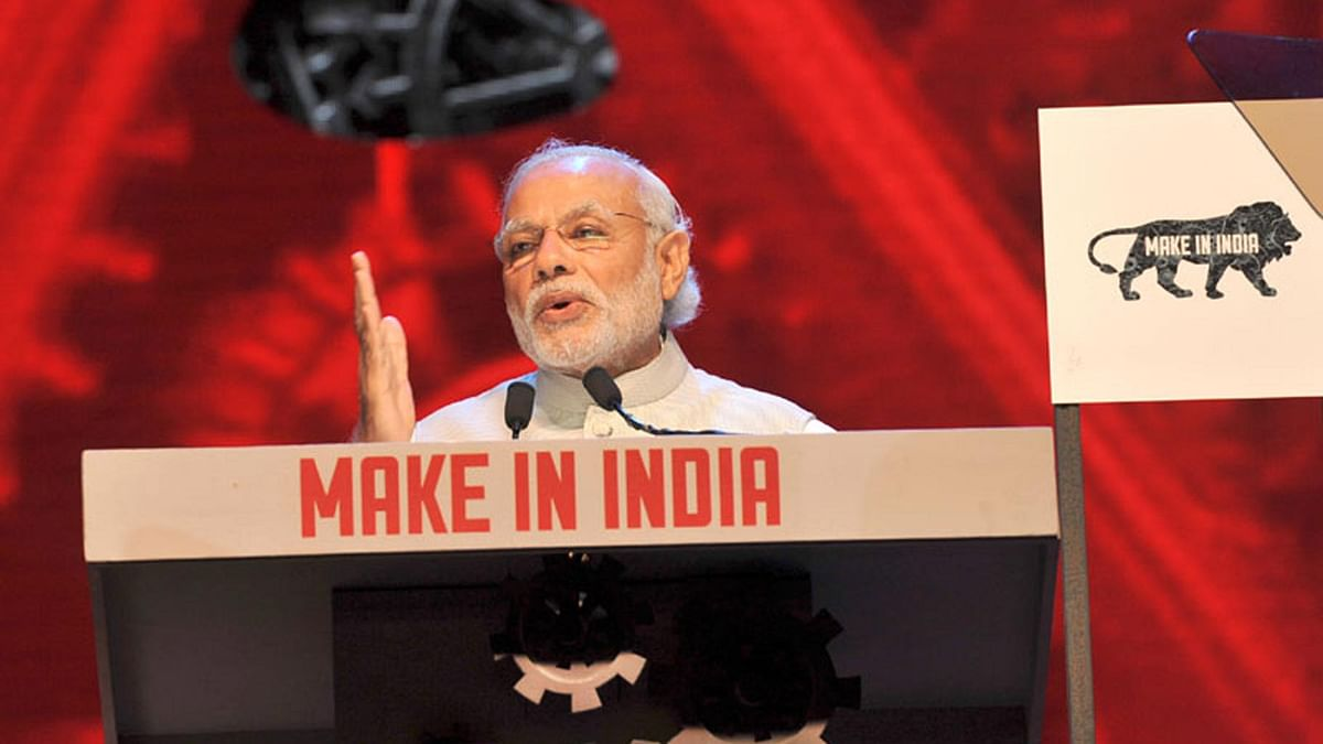"The Prime Minister, Shri Narendra Modi addressing at the inauguration of the Make in India Week, in Mumbai on 13 February. (Photo Courtesy: <a href=""http://pib.nic.in/newsite/photo.aspx"">PIB</a>)"