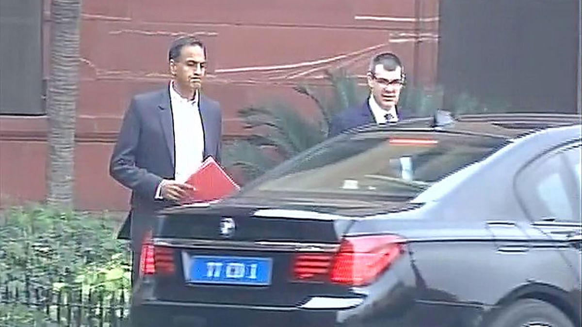 US Ambassador Richard Verma leaves South Block (Delhi) after being summoned by MEA. (Photo: ANI)