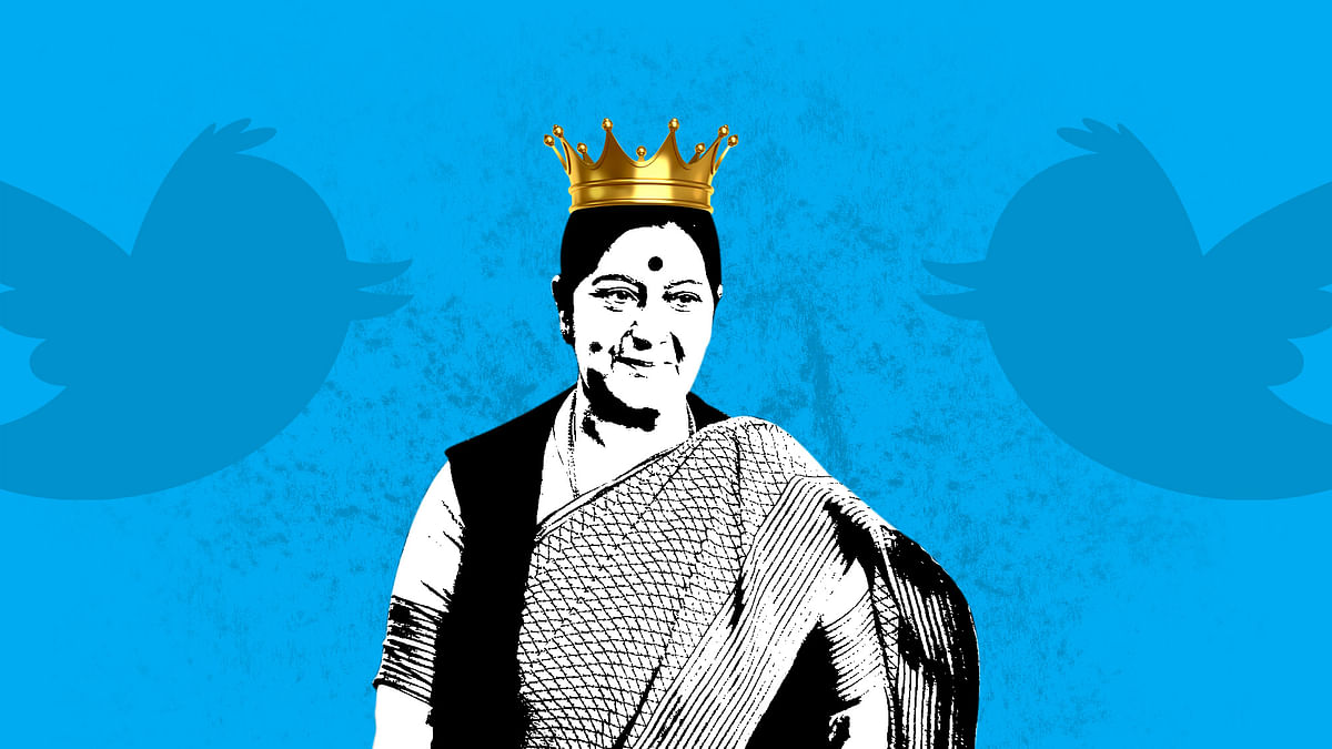 Sushma Swaraj has turned a Twitter queen. (Photo: The Quint)