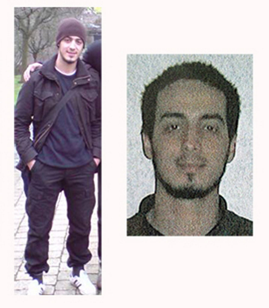 Undated combination of photos of suspect Najim Laachraoui provided by the Belgian Federal Police in Brussels. (Photo: AP)