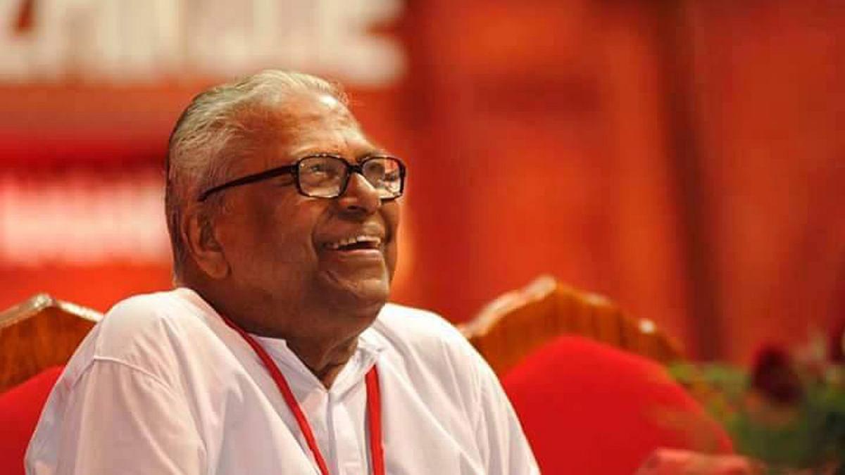 CPI(M) leader VS Achuthanandan.  (Photo Courtesy:<i> The News Minute</i>)