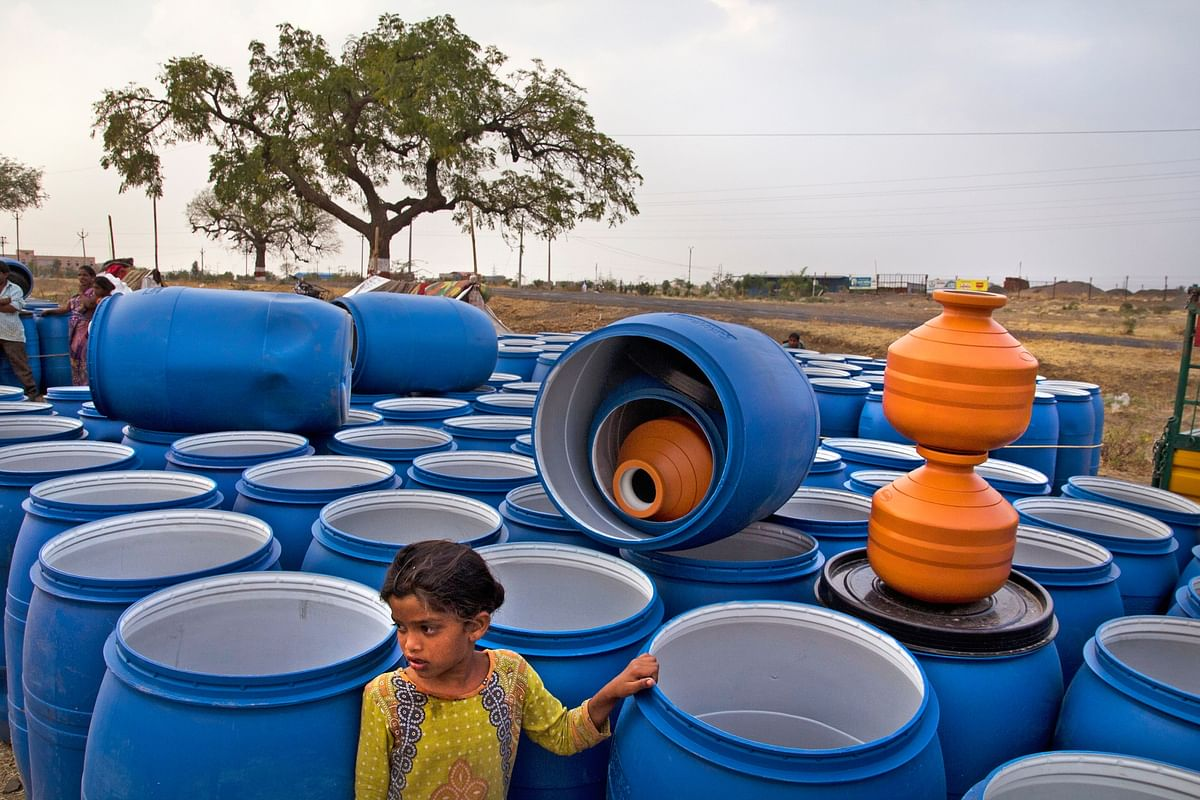 Section 144 has been imposed in many parts of Maharashtra because of the lack of water. (Photo Courtesy: Subrata Biswas/Greenpeace)