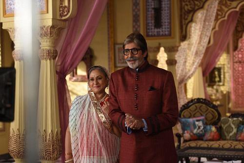 Amitabh and Jaya Bachchan play a Marwari couple for a TV commercial (Photo: srbachchan.tumblr.com)