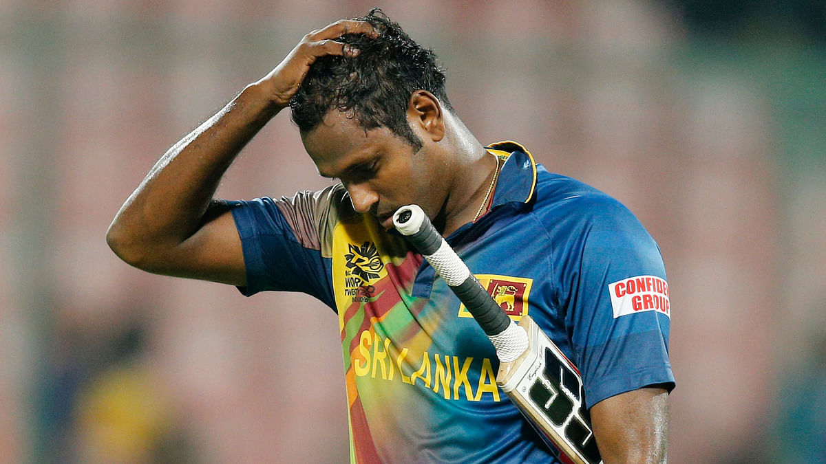 Sri Lanka all-rounder Angelo Mathews was on Wednesday dropped from the One-day International squad.