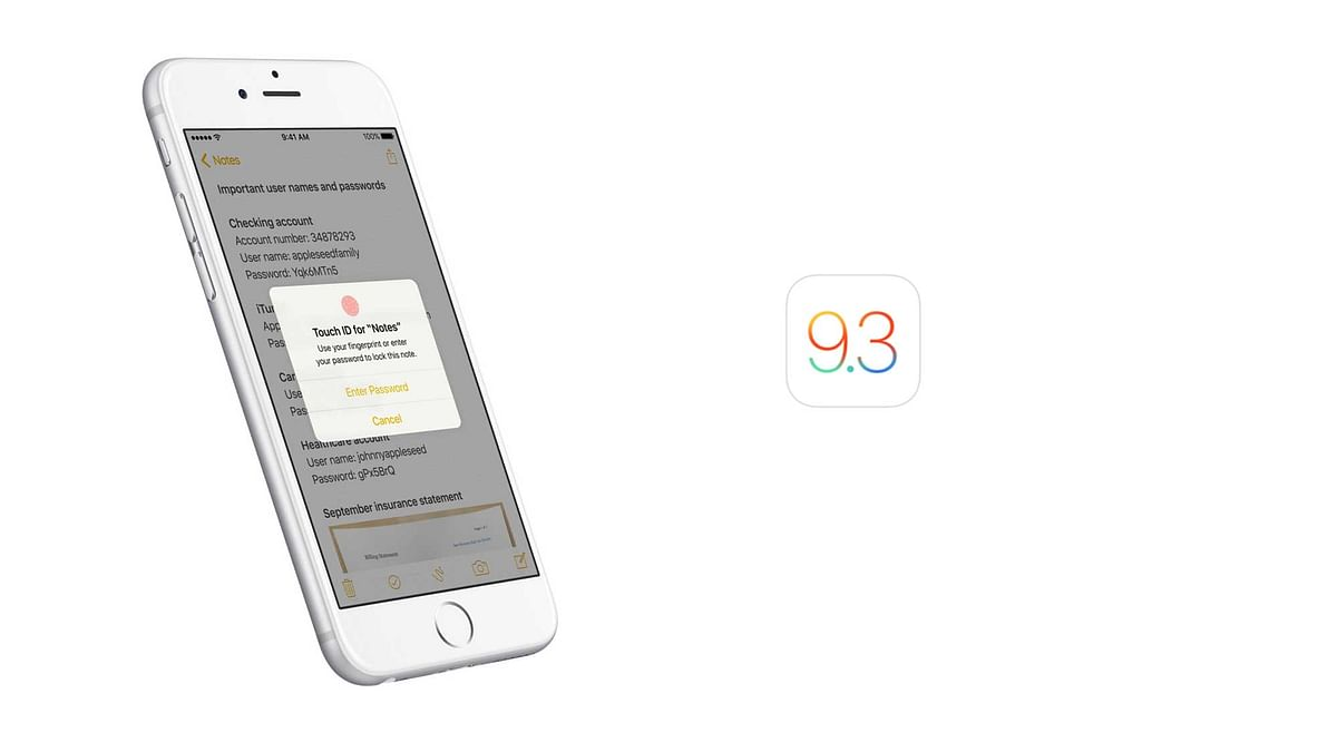 Now you have password protected Notes. (Photo: Apple)