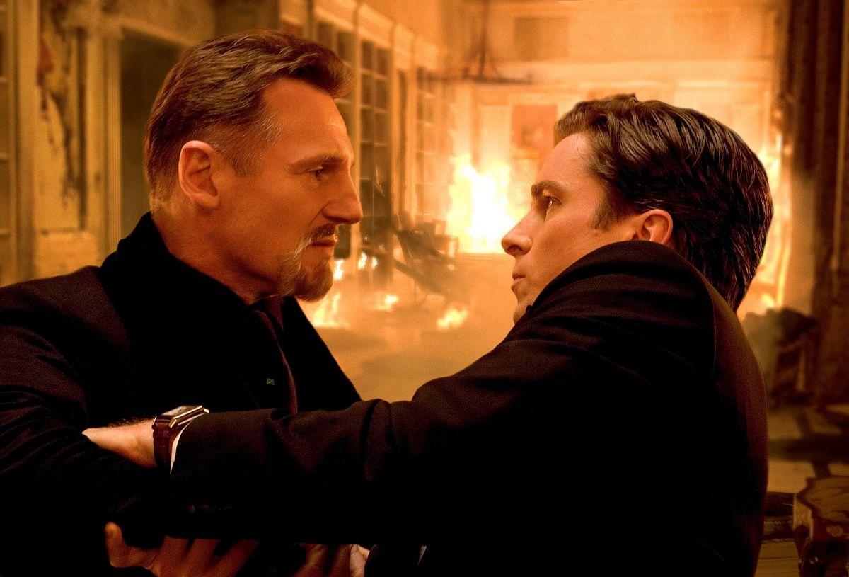 "Liam Neeson and Christian Bale in a scene from <i>Batman Begins</i>. (Photo Courtesy: <a href=""https://www.facebook.com/BatmanBeginsMovie/photos"">Facebook/Batman Begins</a>)"