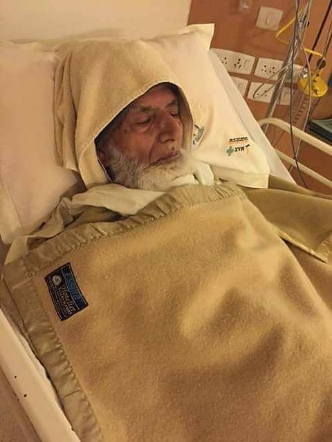 Hardline Hurriyat Conference leader Syed Ali Shah Geelani admitted in a Delhi hospital after he suffered a minor heart attack on March 10, 2016. (Photo: IANS)