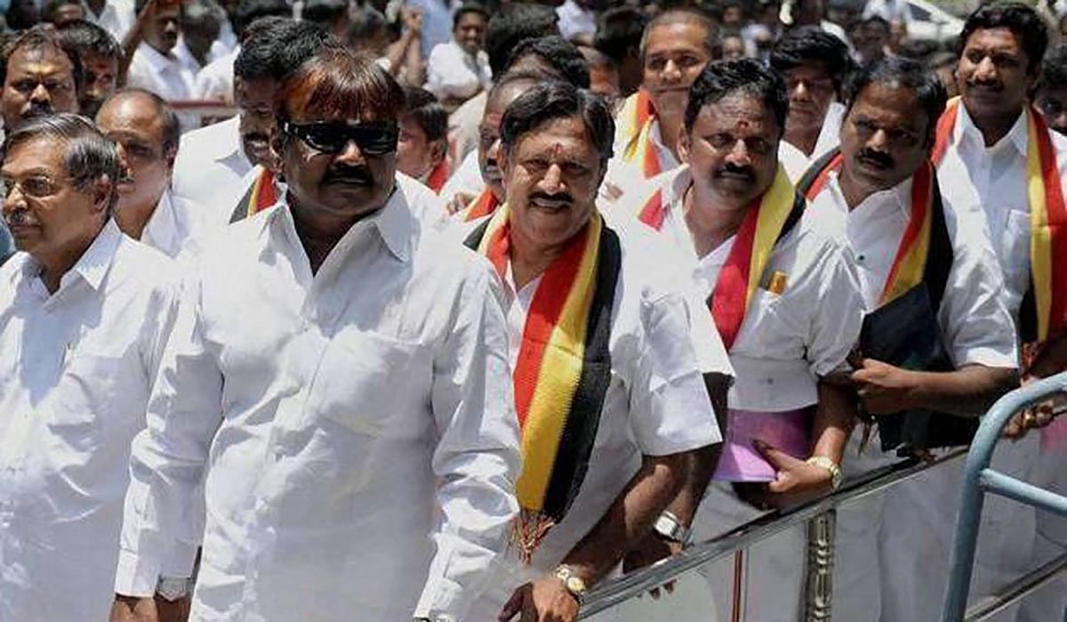 Like last elections, Vijaykanth and his party are in demand this time too. (Photo: PTI)
