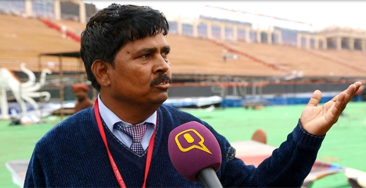 Om Prakash of BVG India Limited talks to <b>The Quint. </b>(Photo: Sanjoy Deb)