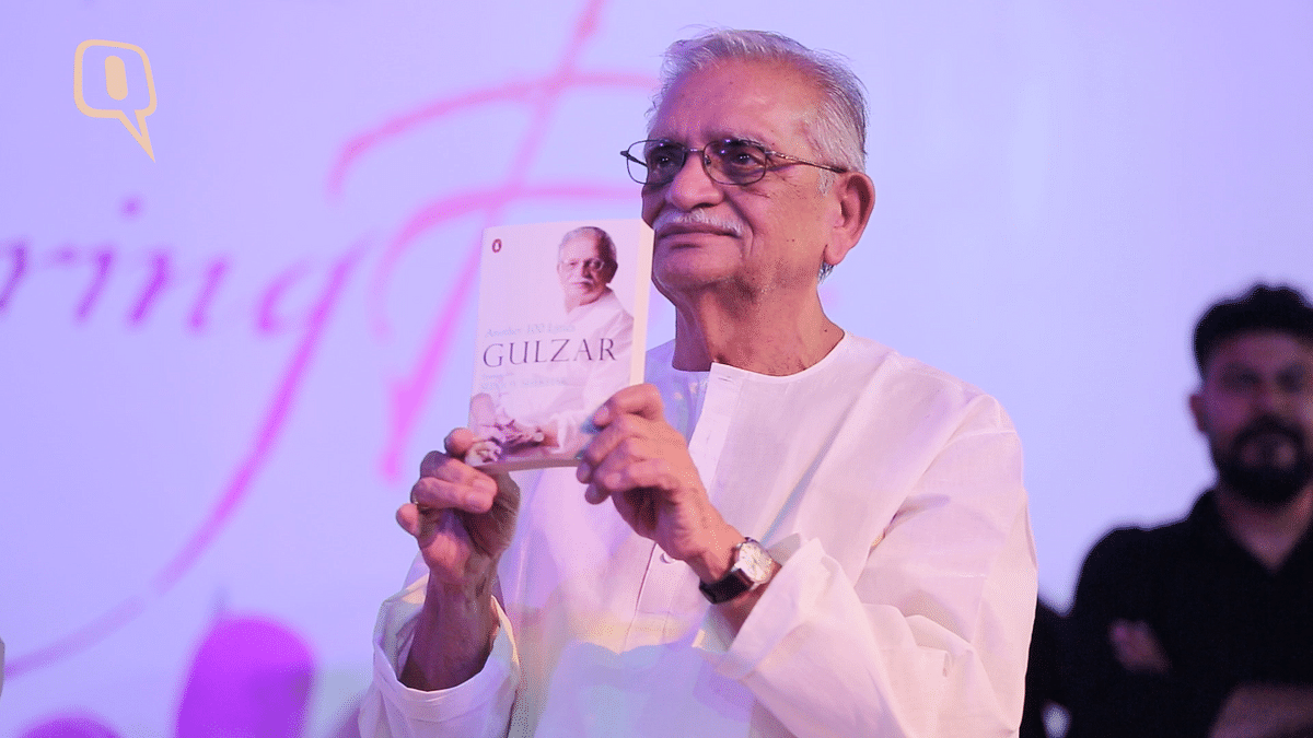 Gulzar was asked about the ban of Pakistani artistes at a press event. (Photo: <b>The Quint</b>)