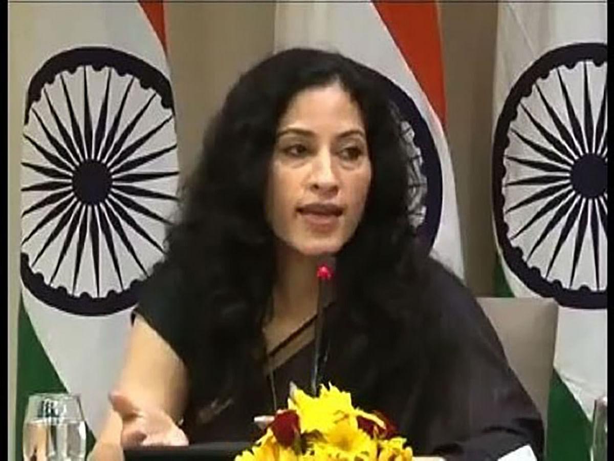 "Nandini Singla, joint secretary (Europe West), External Affairs Ministry. (Photo Courtesy: <a href=""https://www.youtube.com/watch?v=_6VgQ2oa1O4"">YouTube</a>screengrab)"