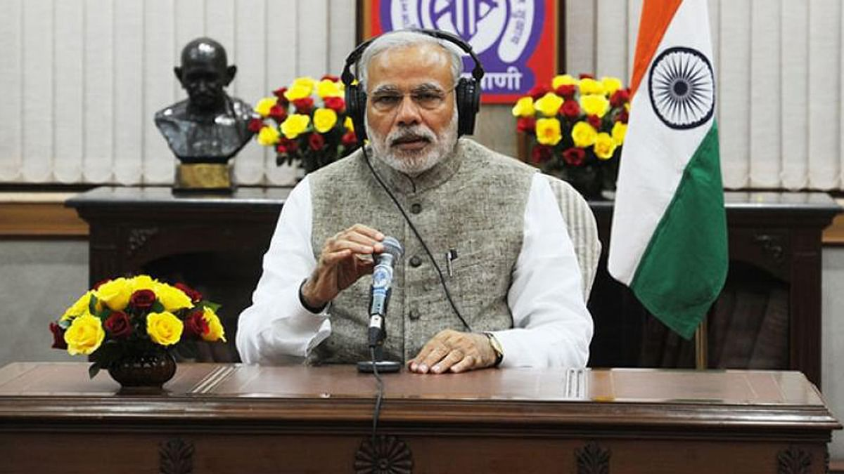 Prime Minister Narendra Modi addressing people on his radio programme 'Mann Ki Baat'. (File photo)