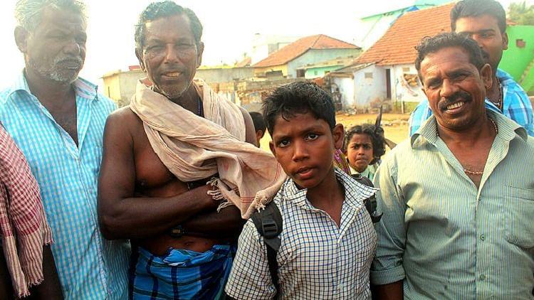 Fishermen at Enayam village. (Photo Courtesy: The News Minute)