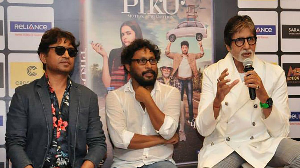 "Piku director Shoojit Sircar with actors Irrfan Khan and Amitabh Bachchan. (Photo: <a href=""https://www.facebook.com/Crosswordbookstores/photos/a.10153453472269085.1073741893.178693784084/10153453472524085/?type=3&amp;theater"">Facebook</a>)"