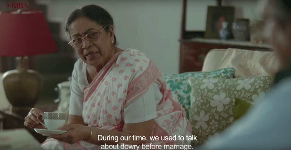 """The advert somehow manages to reinstate the traditional idea that a girl is """"taken"""" by the groom's family. (Photo Courtesy: YouTube screenshot)"""