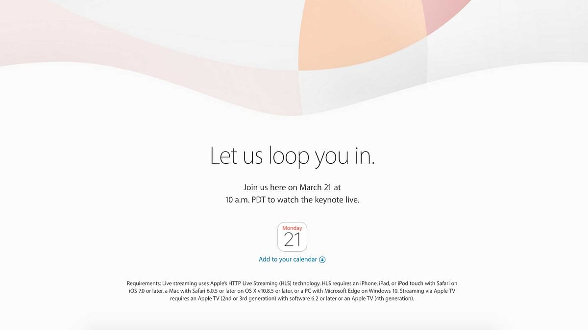Apple's next event is happening on March 21st, are you ready for the new goodies from them? (Photo: Apple)