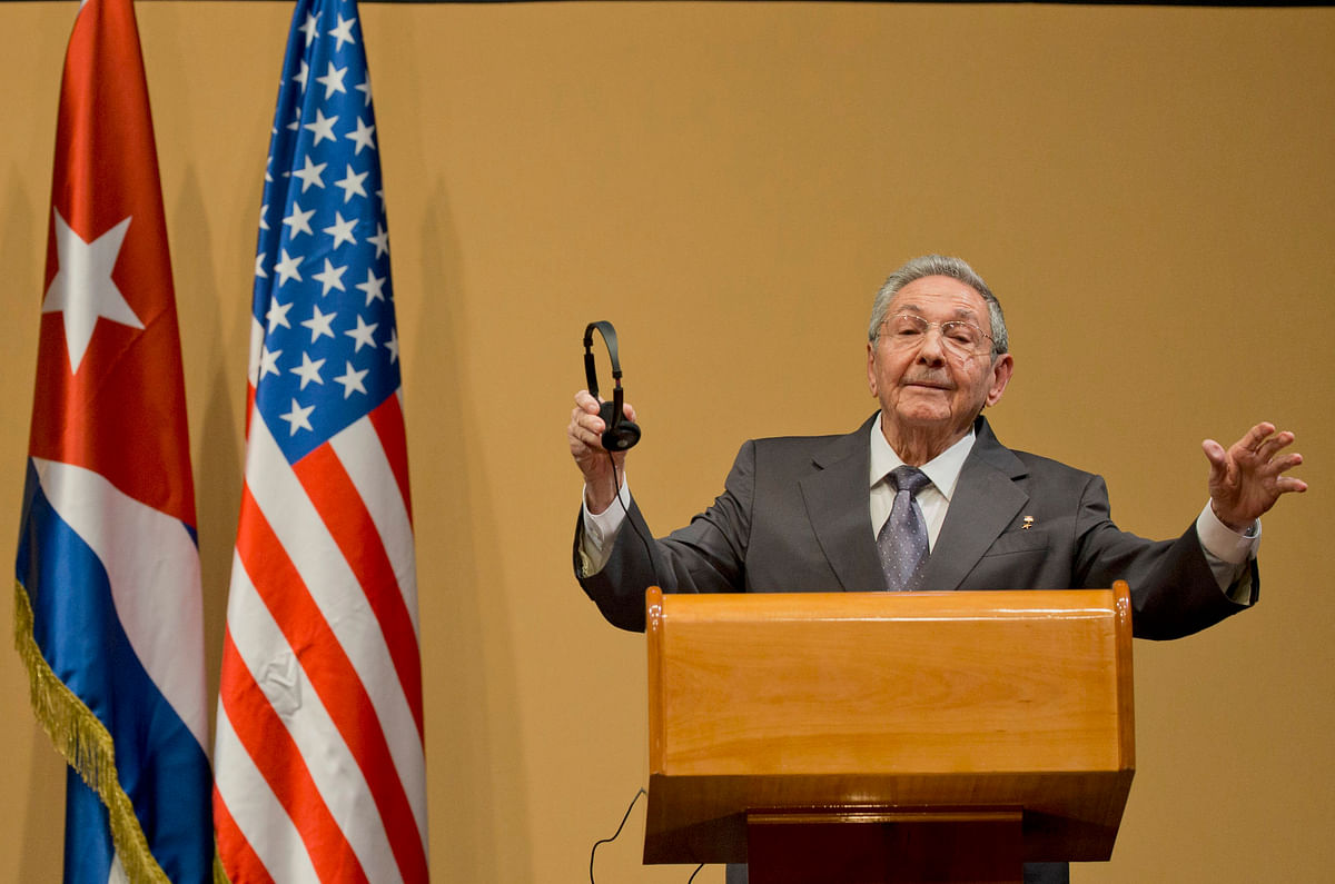 Cuba's President Raul Castro gestures as he speaks during a press conference after a joint statement with US President Barack Obama in Havana, Cuba (Photo: AP)