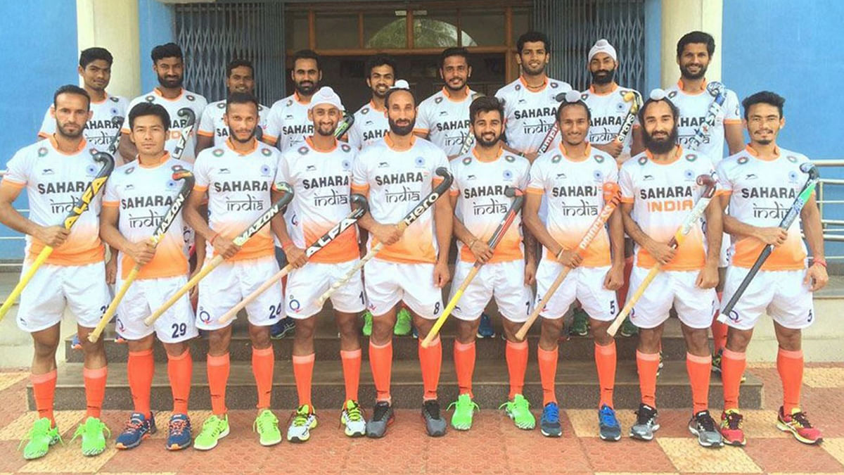 """The Indian Men's Team for the 25th Sultan Azlan Shah Cup. (Photo Courtesy: <a href=""""https://twitter.com/TheHockeyIndia/status/711854745044910080"""">Twitter.com/@TheHockeyIndia</a>)"""