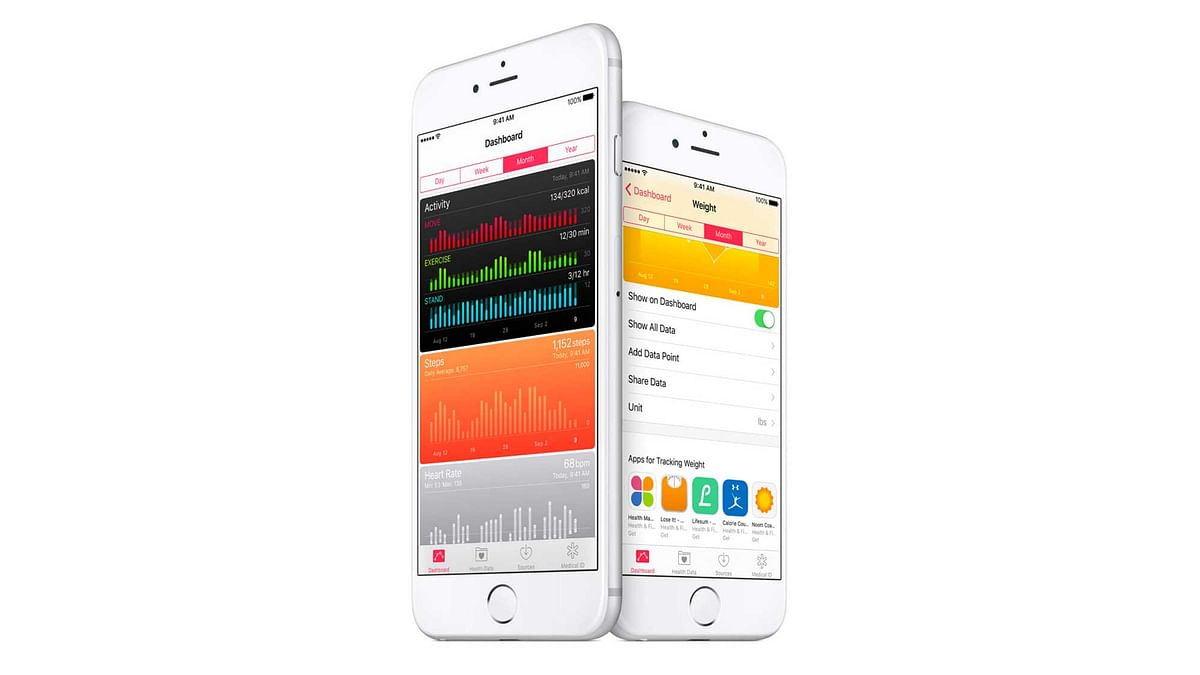 iOS 9.3 gives you third party app support on Health App. (Photo: Apple)