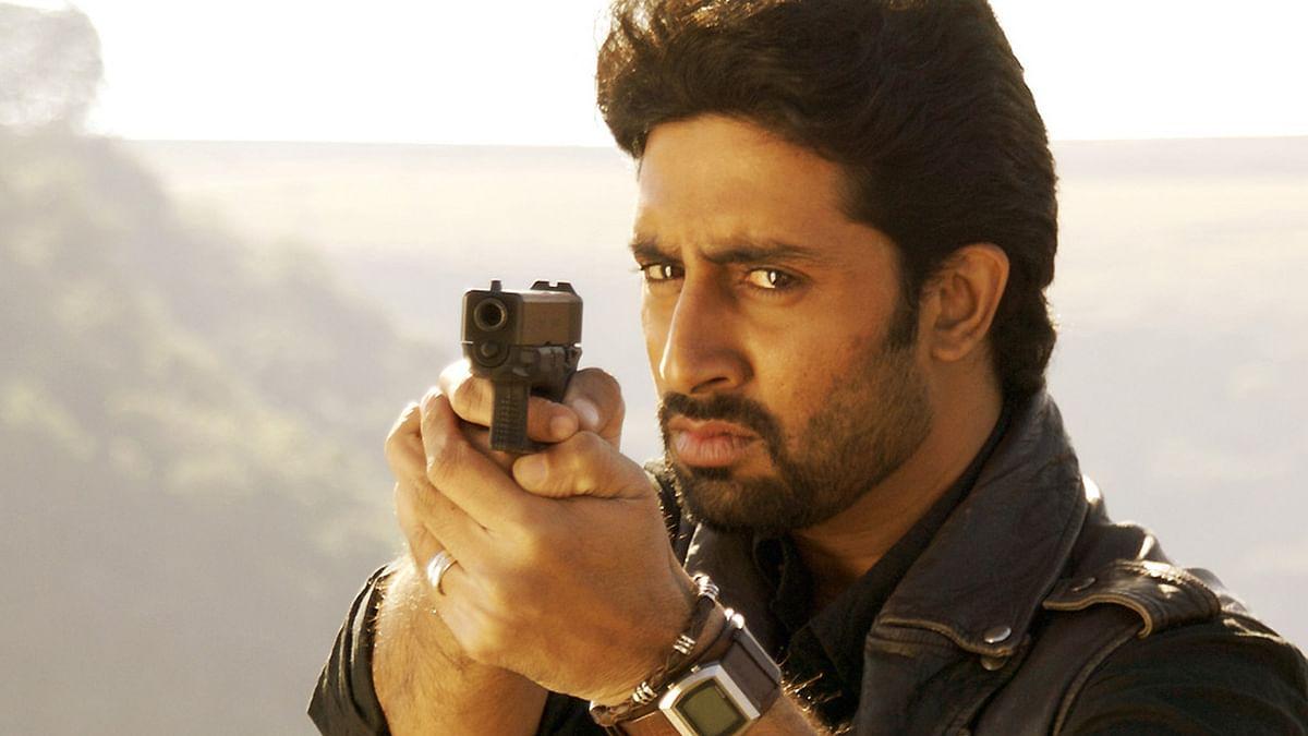 Abhishek Bachchan in a still from movie <i>Dhoom 2</i>.