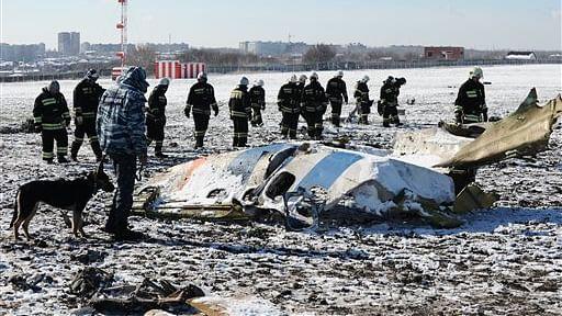 File photo of the crashed plane in Dubai. (Photo: AP)
