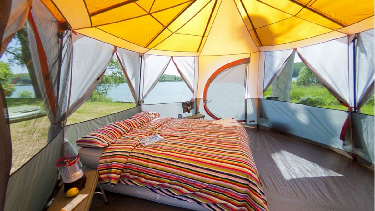 The gorgeous 'glamping' tents provided by LetsCampOut will turn a camper out of me yet! (Photo Courtesy: Radhika Sharma)