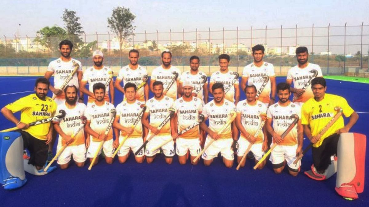 """The Indian Men's Team for the 25th Sultan Azlan Shah Cup. (Photo Courtesy: <a href=""""http://hockeyindia.org/news/hockey-india-announces-18-member-team-for-25th-sultan-azlan-shah-cup.html"""">Hockey India Website</a>)"""