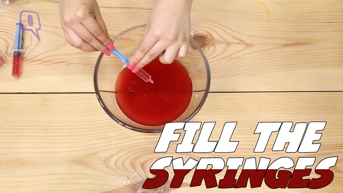 Fill the syringes