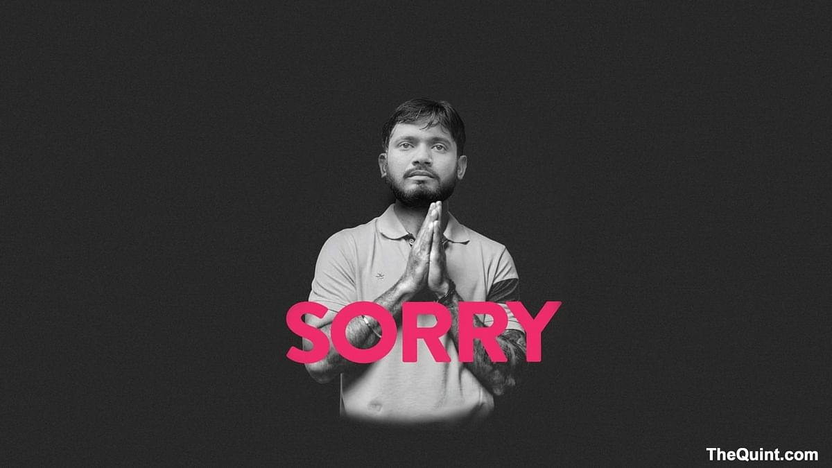 Kanhaiya Kumar: Sorry for the jerks, the trollers. Don't let them ruin it for the rest of us. (Photo: Altered by <b>The Quint</b>)