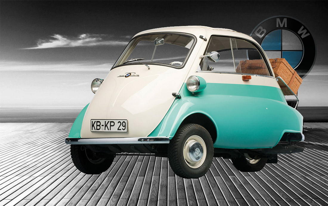 1953 BMW Isetta 300. (Photo: Altered by <b>The Quint</b>)