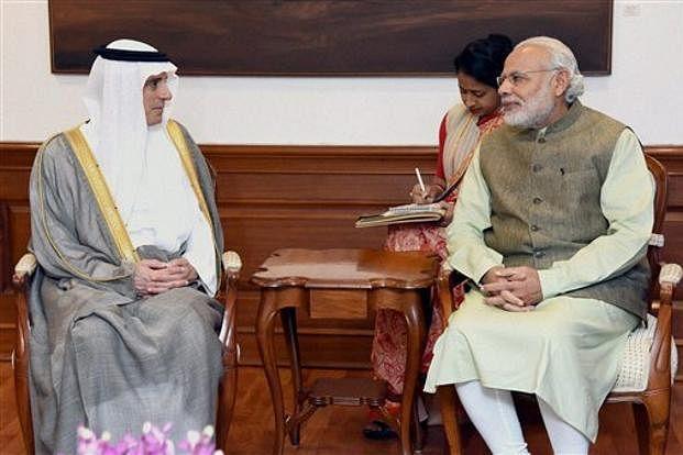 Saudi Arabia foreign minister Adel bin Ahmed Al Jubeir (left) and PM Narendra Modi in New Delhi. (Photo: PTI)