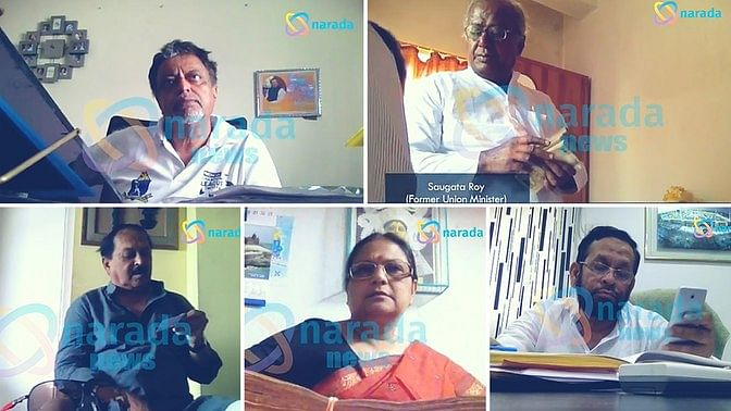 Trinamool Congress leaders that have allegedly accepted bribes. (Photo: Narada News, altered by <b>The Quint</b>)