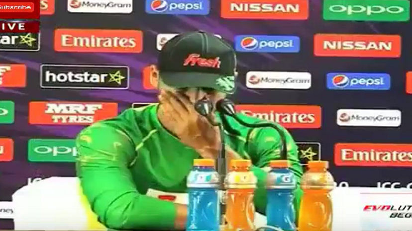 Bangladesh captain Mashrafe Bin Mortaza could not hold back his tears while speaking to the media on Sunday. (Photo: Asia Cup 2016 Final Highlights India vs Bangladesh Youtube)