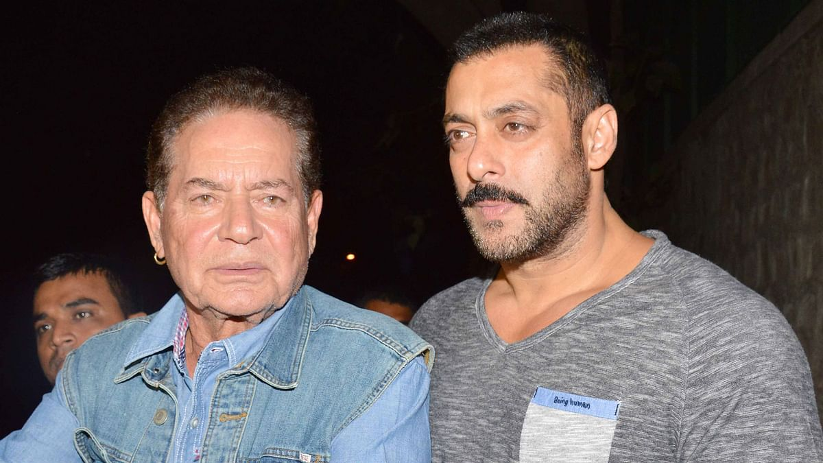 Salim Khan with Salman (Photo: Yogen Shah)