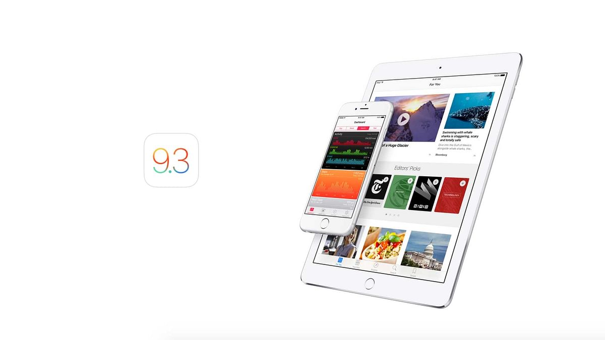 Apple's new update iOS 9.3 is here and we get you what's new on it. (Photo: Apple)