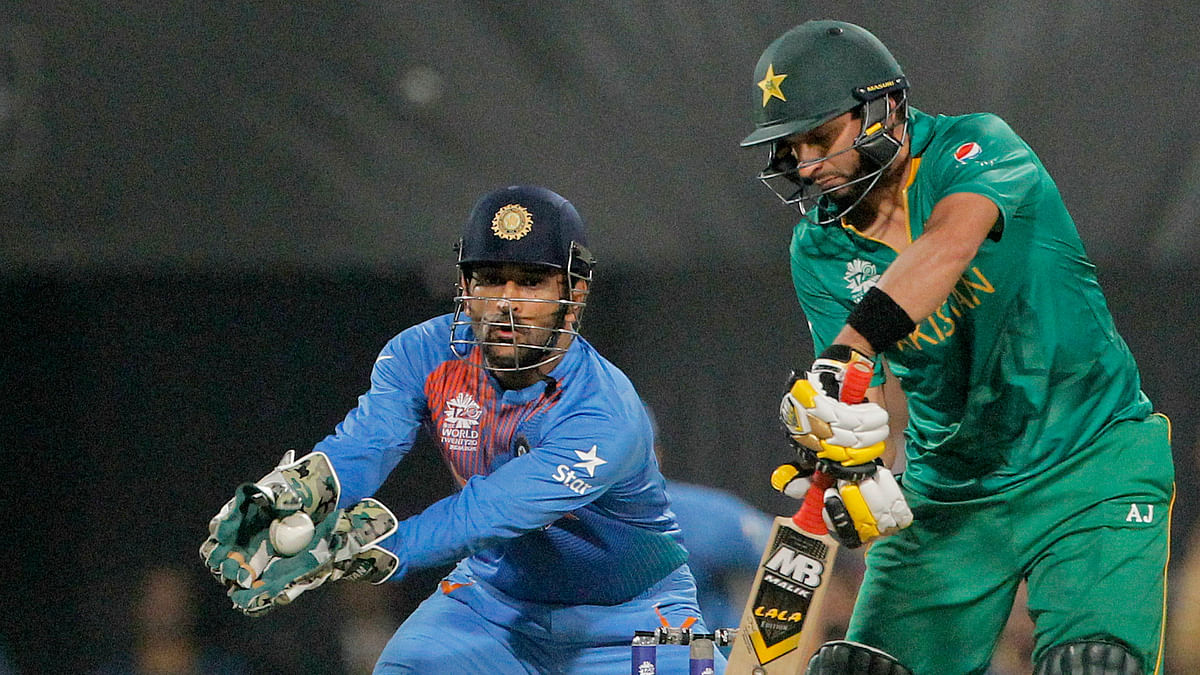 Skipper Shahid Afridi was at his dazzling best against Bangladesh, but failed against India. (Photo: AP)
