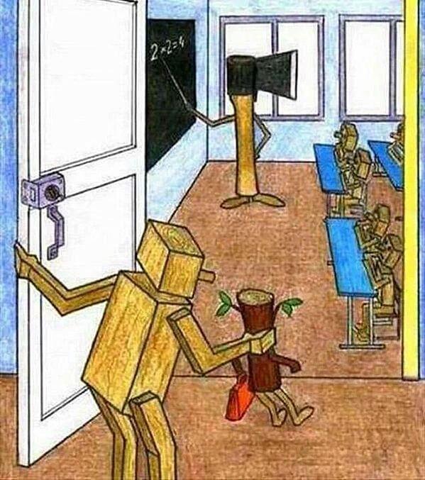 "Schools promoting homogeneity. (Photo: Twitter/<a href=""https://twitter.com/WAKEUPPEOPL3"">Open Your Mind</a>)"