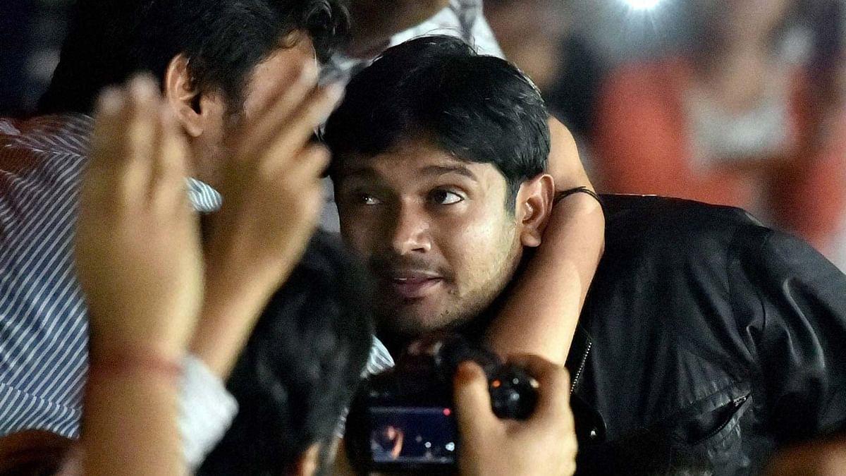 Kanhaiya Kumar in JNU. (Photo: PTI)