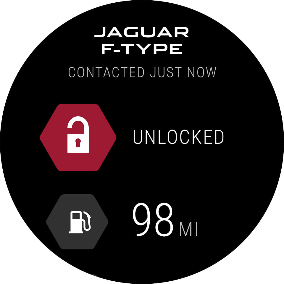 Screenshot of Jaguar's latest Android wear app. (Photo Courtesy: Jaguar)