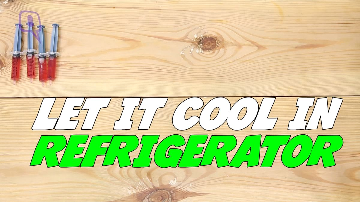 Refrigerate the mixture.
