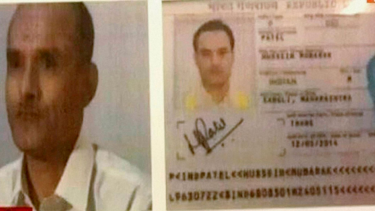A TV grab of Kulbhushan Jadhav who has been arrested in Pakistan  for his alleged links with India's external  espionage agency RAW. (Photo: PTI)